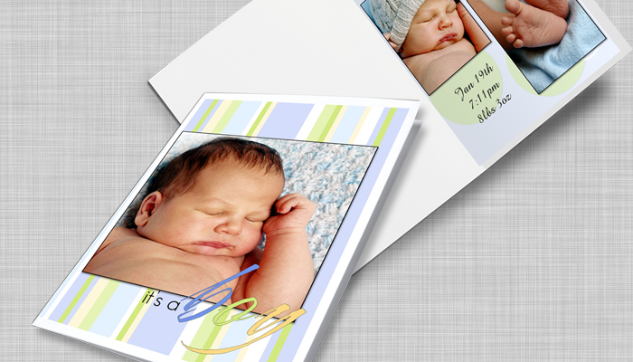 folded greeting card with my photo