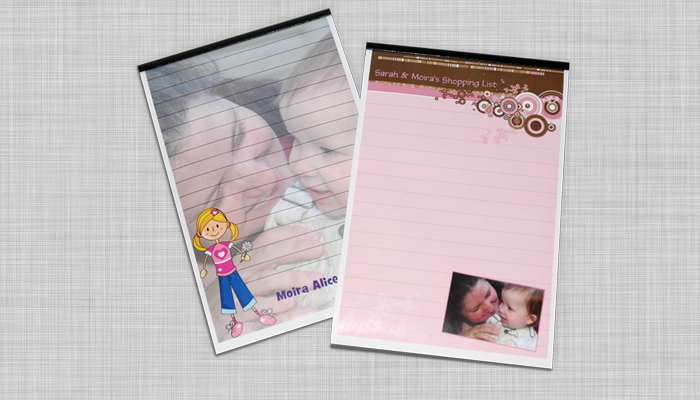 custom notepads with a photo